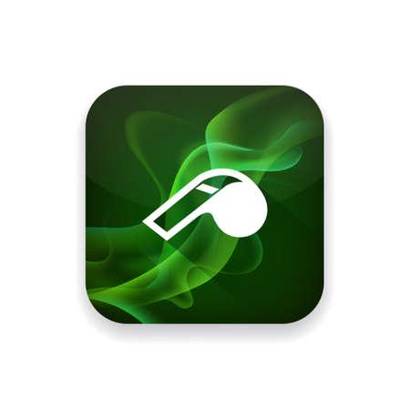 whistle: Whistle  icon Illustration