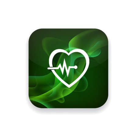 cardiograph: Electrocardiography  icon Illustration