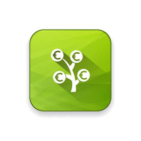 bank branch: money  tree   icon