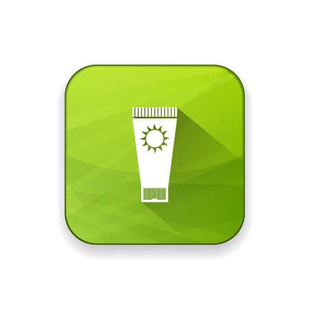 sunblock: sunblock icon Illustration