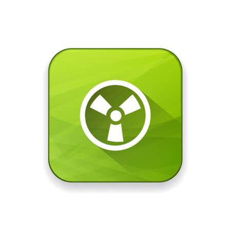 hazardous sign: radio active icon Illustration
