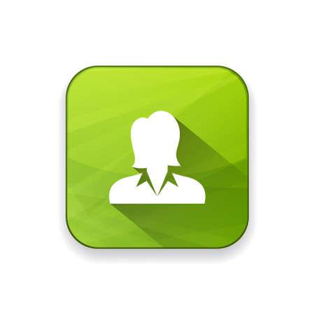 zakelijke vrouw: business woman   icon Stock Illustratie