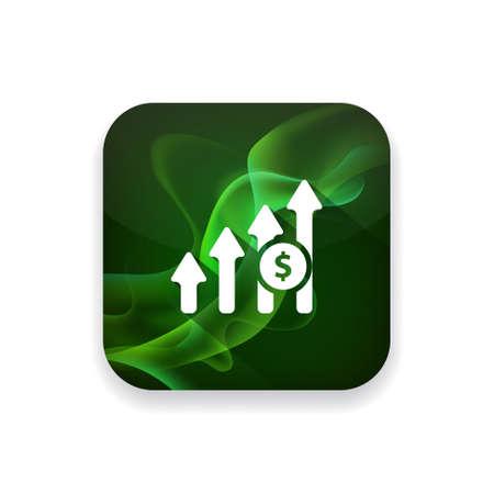 increase: Increase Profit Chart icon Illustration