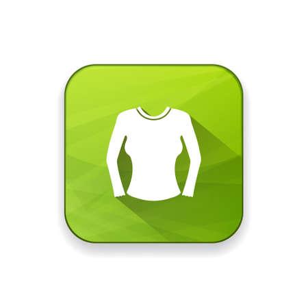blusa: blusa de las mujeres icono Vectores