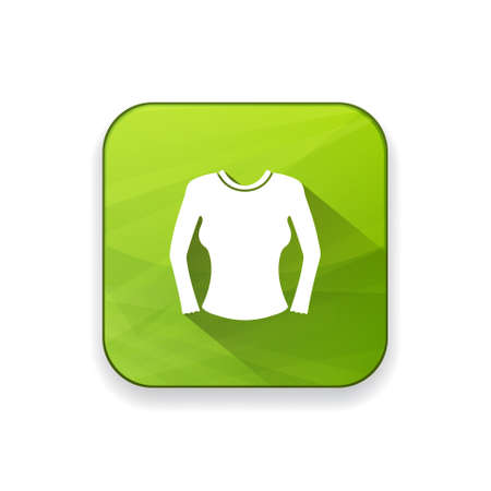 skirt suit: women blouse icon Illustration