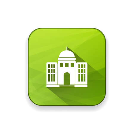 government building: government building  icon Illustration