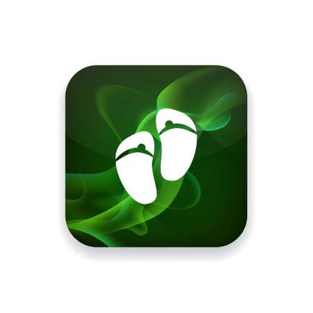 sandalias: sandalias de icono