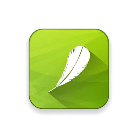 feather  pen  quill  icon Illustration