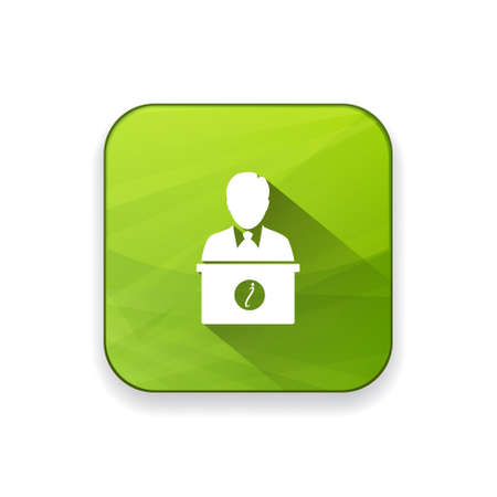 receptionist: receptionist   icon Illustration