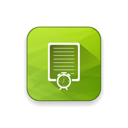 test deadline: document with clock icon