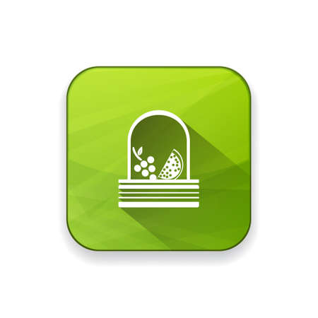 basket icon: fruit basket  icon Illustration