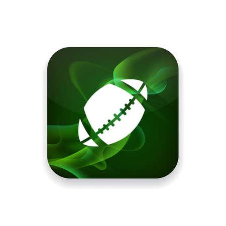 team sports: icono del fútbol americano Vectores
