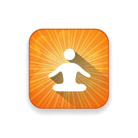 icono deportes: icono de yoga Vectores