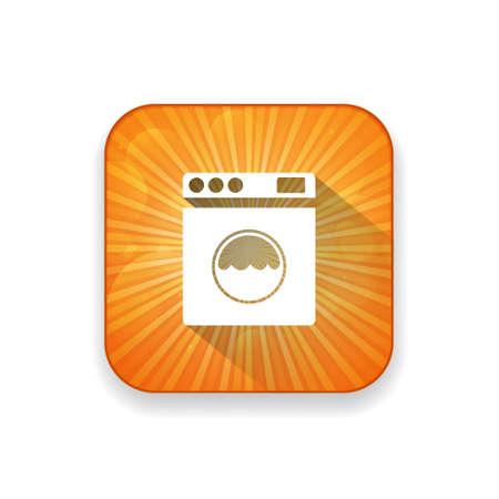 machine à laver: rondelle icône