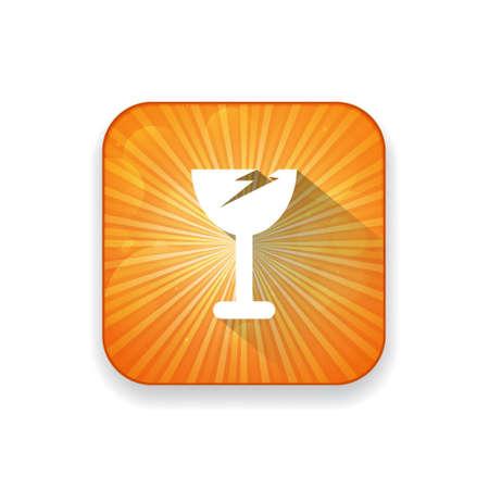 vetro rotto: broken glass icon Vettoriali
