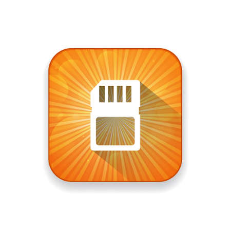 smart card: sim card   icon Illustration