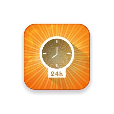 24: clock  24  icon