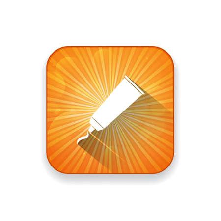 pegamento: icono de tubo de pegamento