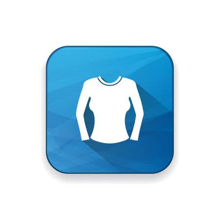suit skirt: women blouse icon Illustration