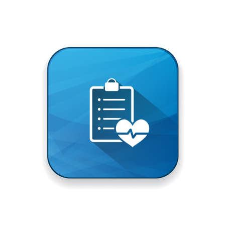 cardiology: cardiology  report    icon Illustration