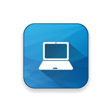 notebook computer: laptop  icon Illustration