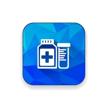 a substance vial: Pharmaceutical  Drugs bottle icon