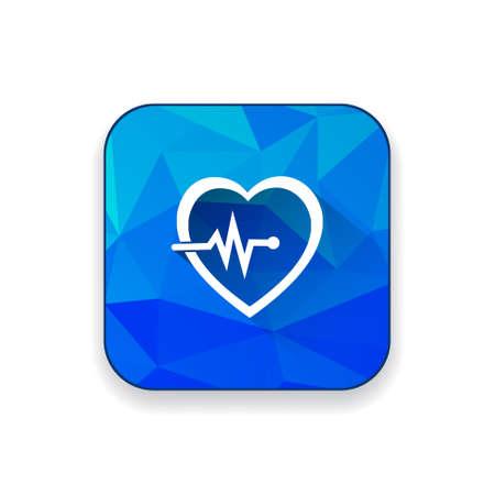 cardiograph: Electrocardiography  icon Illustration