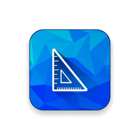millimeters: triangle  ruler  icon Illustration