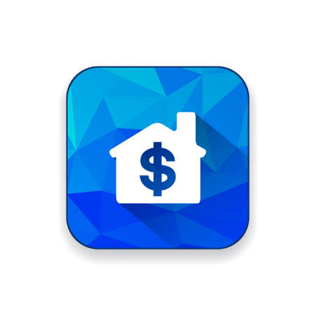 housing prices: dollar house  icon Illustration