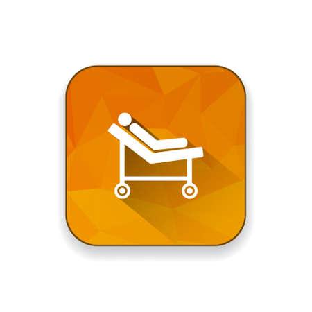 emergency room: hospital trolley icon