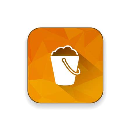 beach bucket: beach Bucket icon Illustration