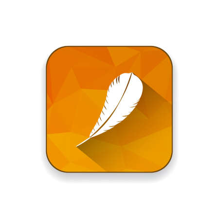poet: feather  pen  quill  icon Illustration