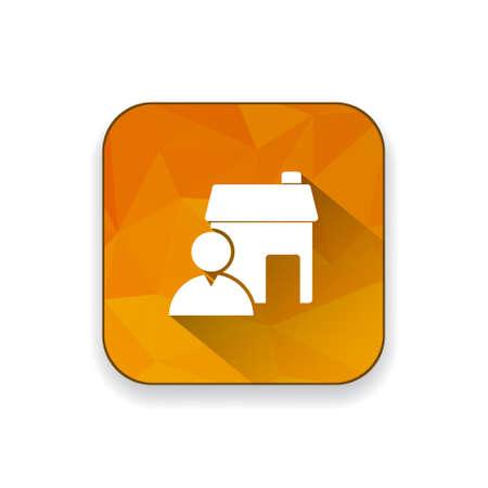 estate: real estate agent icon