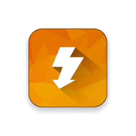lighting button: flash icon