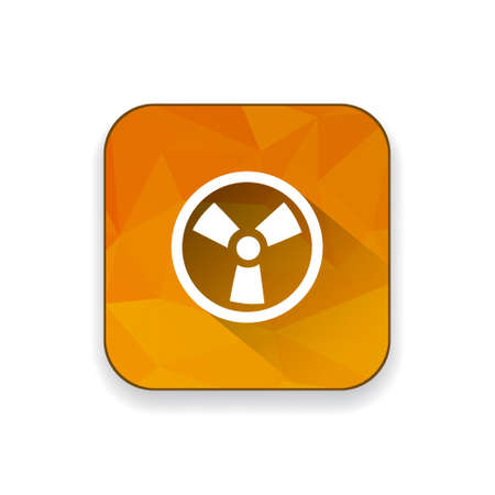 nuclear safety: radio active icon Illustration