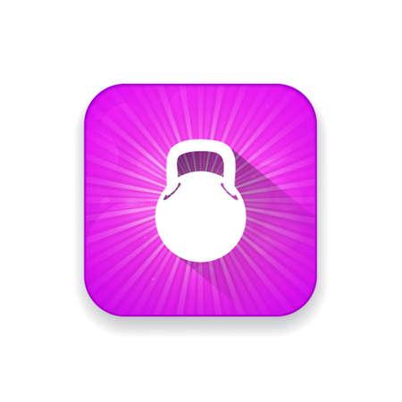 ton: bodybuilding weight icon