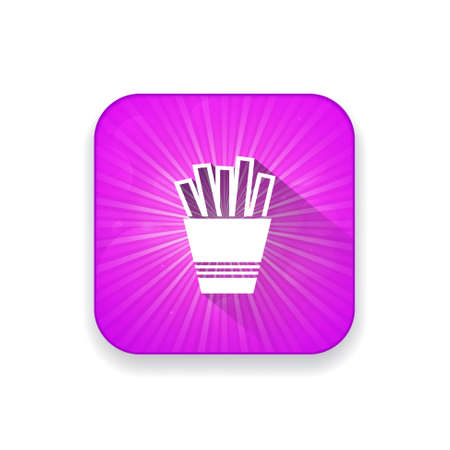 fries: french fries  icon Illustration