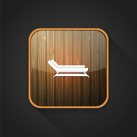 chaise lounge: chaise lounge icon Illustration