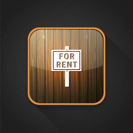 for rent sign: for rent sign icon