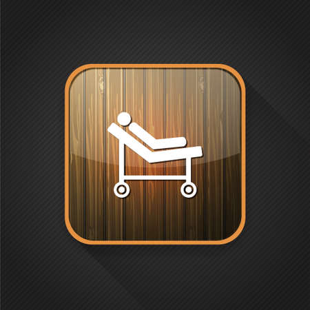 surgery stretcher: hospital trolley icon