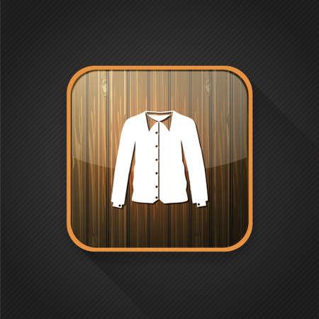 folded clothes: chemise  icon