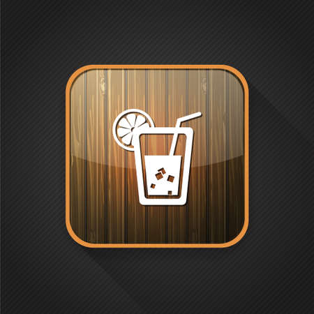 lemon slice: lemon juice  icon Illustration