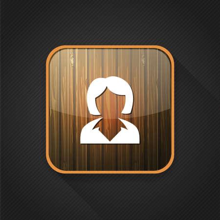 business symbol: business women  icon