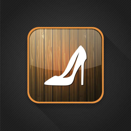 heel: high heel shoes  icon Illustration