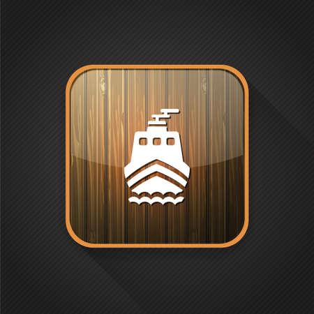 ship icon: ship  icon Vettoriali