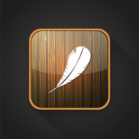 feather pen: feather  pen  quill  icon Illustration