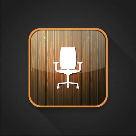 ergonomic: office chair  icon Illustration