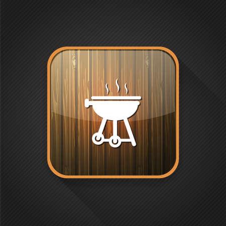 그릴: grill  icon 일러스트
