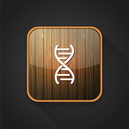 dna icon: DNA  icon Illustration