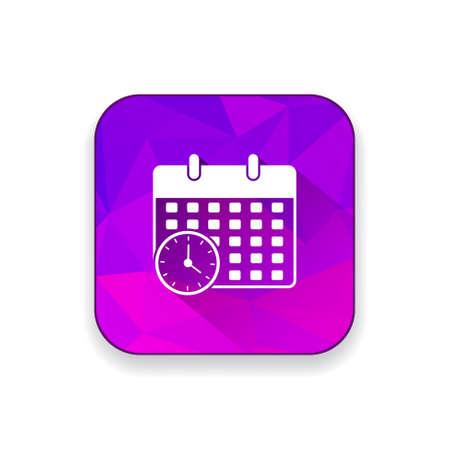 calendar icon: calendar time  icon Illustration